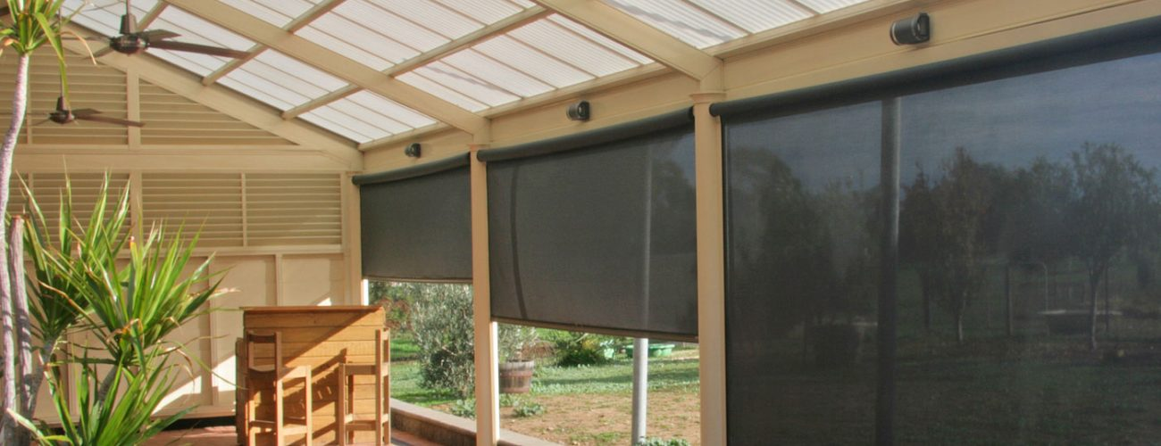 SlideTrack Cafe Blinds